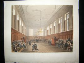 Ackermann History of Eton 1816 Hand Col Print. Eton School Room